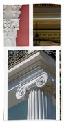 Columns Of New Orleans Collage 2 Beach Towel