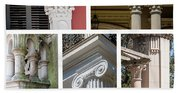 Columns Of New Orleans Collage Beach Towel