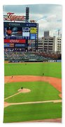 Comerica Park, Home Of The Detroit Tigers Beach Towel