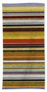 Comfortable Stripes Vl Beach Towel by Michelle Calkins