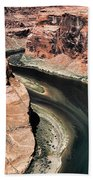 Coming Around Horseshoe Bend Page Arizona Colorado River  Beach Towel