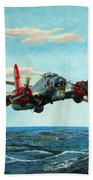 Coming Home - Boeing B-17 Flying Fortress V2 Beach Towel
