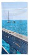 Commercial Pier On Monterey Bay-california  Beach Towel