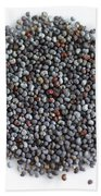 Commercial Poppy Seeds Beach Towel