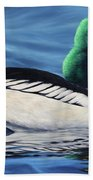 Common Goldeneye Beach Towel