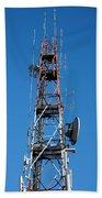 Communications Tower Beach Towel