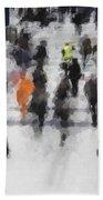 Commuter Art Abstract Beach Towel