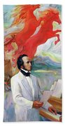 Composer Felix Mendelssohn Beach Towel