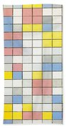 Composition With Grid Ix Beach Towel