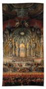 Concert Given By Cardinal De La Rochefoucauld At The Argentina Theatre In Rome Beach Towel