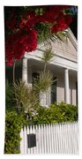 Conch House In Key West Beach Towel by Susanne Van Hulst