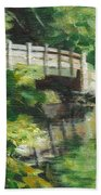 Concord River Bridge Beach Towel