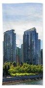 Condominium Waterfront Living In Vancouver Bc Beach Towel