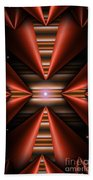 Cone Red Convergence Beach Towel