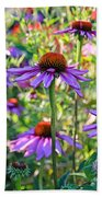 Coneflower Pedals Beach Towel