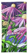 Coneflowers In Gentle Wind Beach Towel