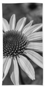 Conehead Daisy In Black And White Beach Towel