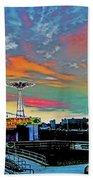 Coney Island In Living Color Beach Towel
