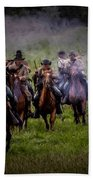 Confederate Cavalry Charge Beach Towel