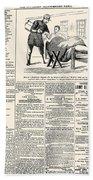 Confederate Newspaper Beach Towel