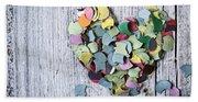 Confetti Heart Beach Sheet