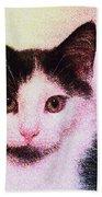 Confetti Kitty Beach Towel