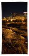 Confluence Park Rapids At Night Beach Towel