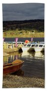Coniston Water Boats Beach Towel