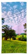 Conley Road Meadow, Oaks, Barn, Spring  Beach Towel