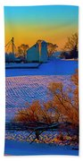 Conley Road Farm Winter  Beach Sheet