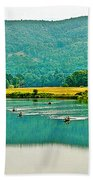 Connecticut River Between New Hampshire And Vermont Beach Towel
