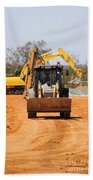 Construction Digger Beach Towel