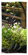 Contained Flowers  Beach Towel