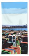 Container Terminal Beach Towel