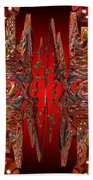 Containment Field-red Beach Towel