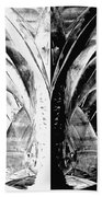 Contemporary Art - Black And White Embers 1 - Sharon Cummings Beach Sheet