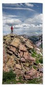 Continental Divide Above Twin Lakes - Weminuche Wilderness Beach Towel