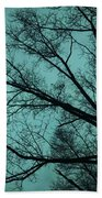 Contrasted Trees Beach Towel