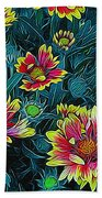 Contrasting Colors Digital Art Beach Towel