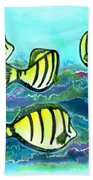 Convict Tang Fish #209 Beach Towel