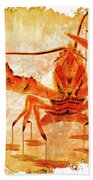 Cooked Lobster On Parchment Paper Beach Towel