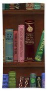 Cookin' The Books Beach Towel