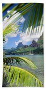 Cooks Bay With Sailboat Beach Towel