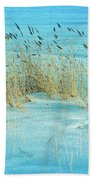 Cool Blue Blowing In The Wind Beach Towel