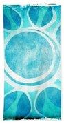 Cool Blue Flower Beach Towel