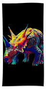 Cool Dinosaur Color Designed Creature Beach Towel