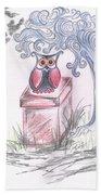 Cool Owl Beach Towel