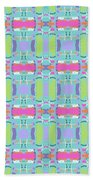 Cool Plaid No. 5 Beach Towel