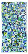 Cool Squares And Shapes Beach Towel