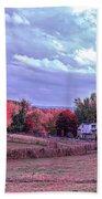 Cool Sunset Autumn Farm Beach Towel